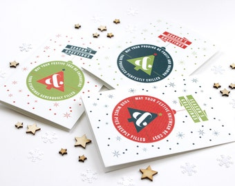 Christmas Card Pack - Minimal Design Xmas Cards - Modern Festive Card Pack - Multipack Christmas Cards - Typography by Chatty Nora