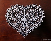 Block Stamps, Tjaps, Pottery stamps, Indian Wood Stamps- Floral Heart