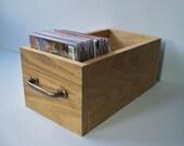 Rustic Storage Box, Wood CD Storage Drawer, Rustic Decor Display Box, Northwest Style Home Decor