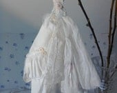Assemblage style Art Dress Made From Paper and Fabric