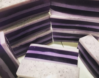 Grape Fruit Stripes Glycerin Soap