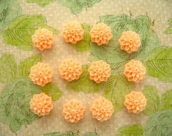 Light Peach Color Resin Flower Thumbtack, Orange Cream Resin Flower Push Pin, Flower Notice Board Pins