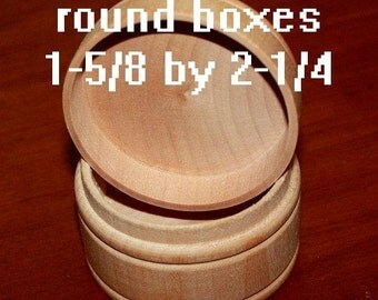 """3 Round Wood Box w/Lid for Pills Rings Jewelry Trinkets Treasures Tooth Fairy Tole Painting 18"""" Doll Accessories"""
