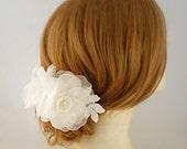 Pure Silk Bridal Flower Comb, Bridal Head Piece, Flower Bridal Headpiece, Bridal Floral Comb, Bridal Hairpiece, Spring Bridal Hair Piece