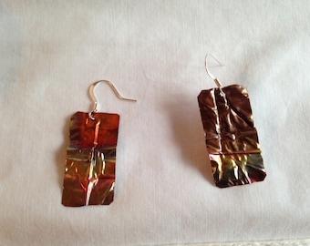 Copper Dangles, earrings, dangle, copper