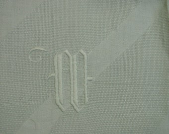 """Charming Vintage Show Towel with Embroidered Monogram, 24 x 39"""""""