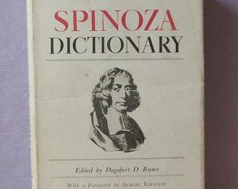 Vintage 1950's Spinoza Dictionary, 1951, Dagobert D. Runes, Albert Einstein, Dutch Philosophy book, Jewish book, Metaphysical book, Ethics
