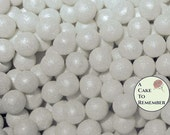 100 6mm fondant cake pearls, sugar gems for cake decorating, cupcake pearls, vegan cake bling, edible cake jewel, edible pearls, sugar pearl