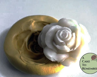 "1.75"" Silicone rose mold for large gumpaste roses. Cake decorating supplies, cupcake decorating, silicone mould, flower mold. M036"