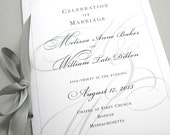 Custom Order Wedding Program for Sherieka C