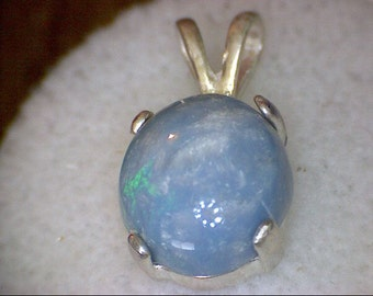 Beautiful Blue Lightning Opal Pendant