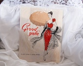 Genuine 1950's vintage 'Grand Gala' fully fashioned 15 denier point heel seamed nylon stockings in original packaging.  Size 9.5 - 3786