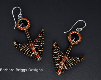 "Beading Kit - ""Geometric Warped Square Arrow Drop Earrings And Variations"""