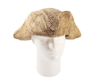 Tricorn natural straw (ramie)
