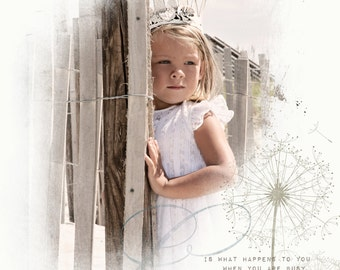 Custom Collage Printed on Watercolor Paper Personalized Your Photo, Choose Size and Color, Color Tint, Black and White, Sepia, Vintage #1006