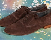 HARWYN Brown Suede Shoes Men's Size 9 .5