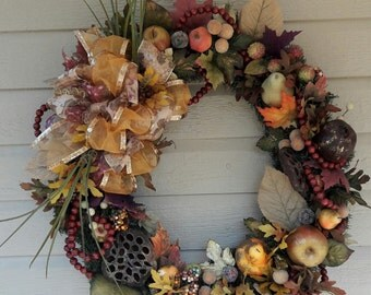 Autumn Fall Fruit Berry Wreath