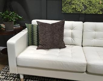 Brown Pillow Cover Chenille Upholstery Throw Pillow Cover Decorative Pillow Floor Cushion Euro Sham 26x26 24x24 22x22 20x20 18x18 16x16