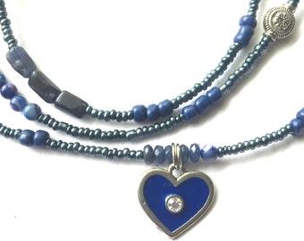 Sodalite Blue Heart Waistbeads