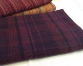 Dark Purple Plaid,  Wool Fabric for Rug Hooking and Appliqué, One yard, Half Yard, Quarter Yard, W154