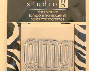 Studio G OMG It's Your Birthday Cling Clear Rubber Stamp
