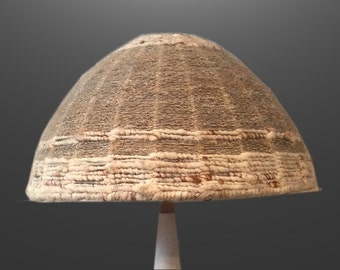 Vintage Fiber Art Modernist Mushroom Shape Lamp Shade Vintage 1970s 70s