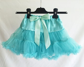 Turquoise Childs Fluffy Petticoat, Childrens petticoat, pettiskirt, Girls Petticoat