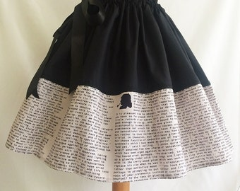 Sherlock Holmes Literature Skirt, Book Skirt, By Rooby Lane