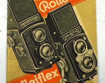 Vintage Rolleicord/Rolleiflex 10th Anniversary (1937) Sales Booklet
