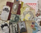 vintage journaling kit | vintage junk journaling supplies | junk journal embellishments | journaling supplies | vintage embellishments book