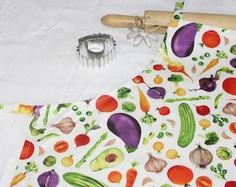 Garden Vegetables Adult Apron