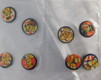 1940's WW2 Era Japanese Soldiers Menko Game Pieces