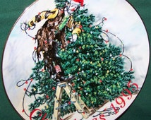 """Emmett Kelly Jr """"All Wrapped Up"""" Flambro 1995 Christmas Collector Plate"""