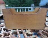 Vintage Dovetail Joints Handmade Organizer Storage Desk/Kitchen Open End 1940s to1960s