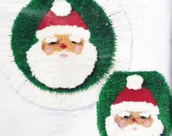 "CM- columbia-Minervo Latch-a-Christmas Idea Santa Mat 20"" Diameter or Lid Cover 15"" x  17"""
