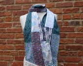 Boho Scarf,Cotton Scarf,Shabby Chic Scarf,Patchwork Scarf,by Nine Muses Of Crete