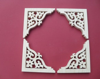 Four ( 4)  Victorian Gingerbread Screen Door Trim/ Brackets / Shelf Brackets