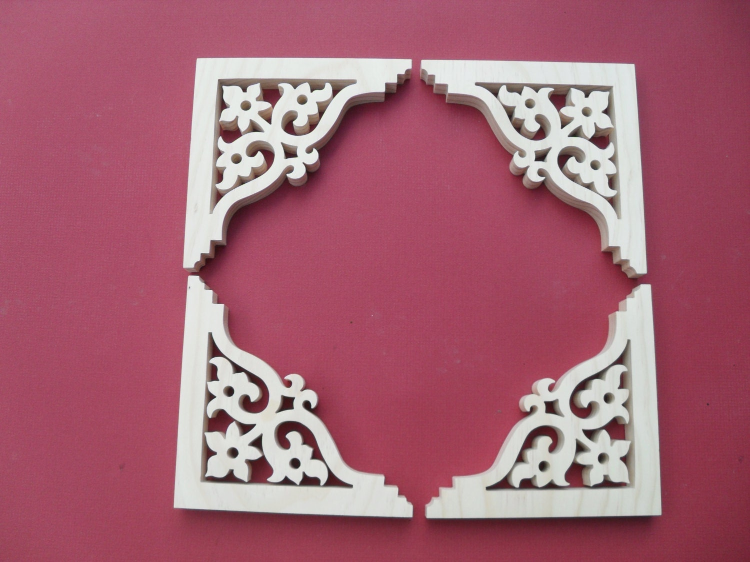 Four 4 victorian gingerbread screen door trim brackets for Gingerbread trim for sale