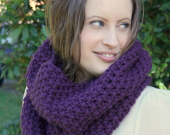 Knitting pattern - moss stitch snood /cowl instant PDF download