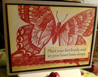 Assorted Thanks You Card - Hand Stamped - Handmade Cards - Thanks you Cards - Handmade Stamped Cross - Thinking of you Cards - 12.50