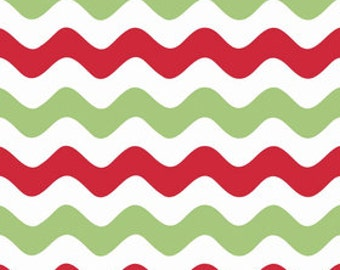 STORE CLOSING Sale Riley Blake Medium Wave Christmas 1 yard
