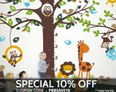 Wall decal, Playroom Growth Chart Alphabet tree Decal- Wall Décor with Playroom
