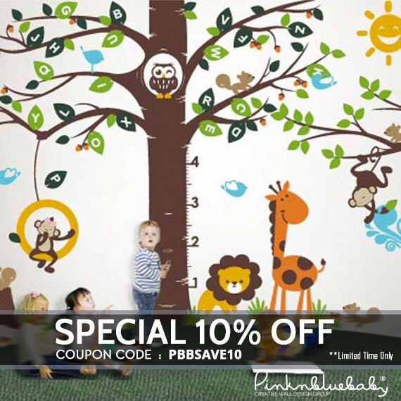 Playroom Wall decal, Playroom Growth Chart Alphabet tree Decal- Wall Décor with Playroom