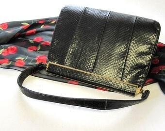 Vintage Sterling Purse Cobra Snakeskin Handbag