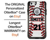 Custom iPhone OtterBox Commuter Case for iPhone 6/6s, 6 Plus/6s Plus, 5/5s, 5c, 4/4s, Galaxy S6 S5 S4 Note 5 4 Personalized Baseball Case