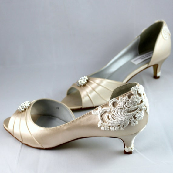 Wedding Shoes Wedding Shoe Low Heel Size 11 By TheCrystalSlipper