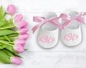 Personalized Baby Gift- Girl Shoe- Baby Shower Gift- Personalized Shoes- Birthday Shoes- Christmas Gift- Newborn Baby Gift- Newborn Keepsake