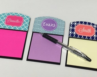 Sticky Note Holder - Monogrammed Gift - Notepad - Office gift - Coworker gift - Monogrammed Note holder