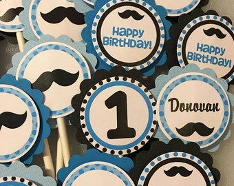 Bowtie Boy Cupcake Toppers