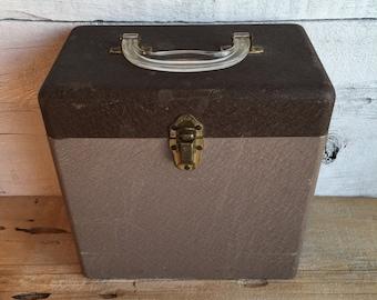 Metal file box. Metal box with handle.
